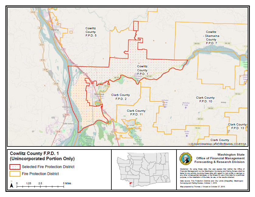 County Line 2 Fire Map.Cowlitz County Fire District 1